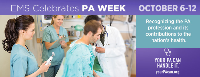 Join EMS in celebrating National Physician Assistants Week!