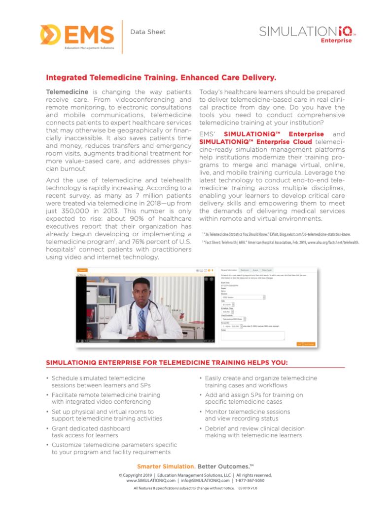 Telemedicine Data Sheet Thumbnail